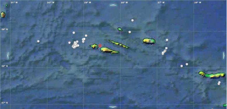 Sismo de magnitude 3.9 sentido nos Açores