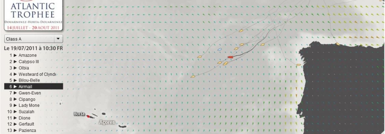AirMail perde posição na regata Atlantic Trophée