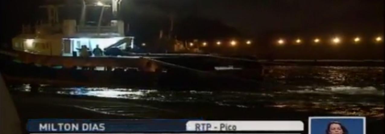 Traineira Milão desencalhada (video)