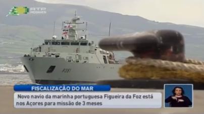 """O """"Figueira da Foz"""", que vem substituir a corveta """"Baptista de Andrade"""" na Zona Marítima dos Açores (video)"""