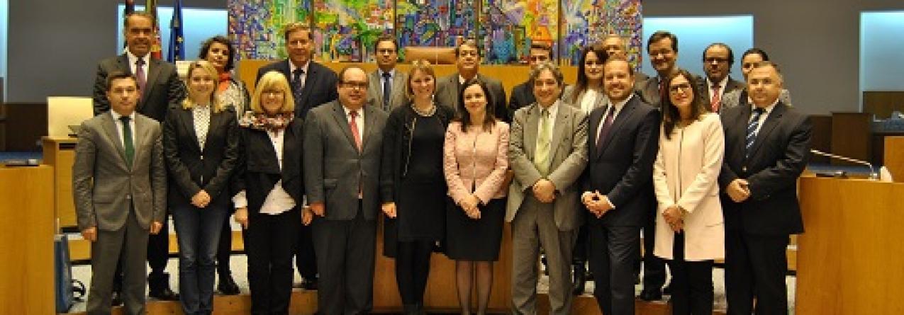 Delegação da Comissão de Pescas do Parlamento Europeu recebida pela presidente do Parlamento Açoriano