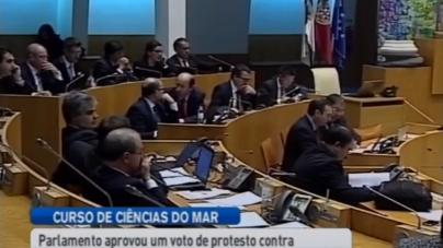 Parlamento açoriano condena curso de Ciências do Mar em Ponta Delgada (vídeo)