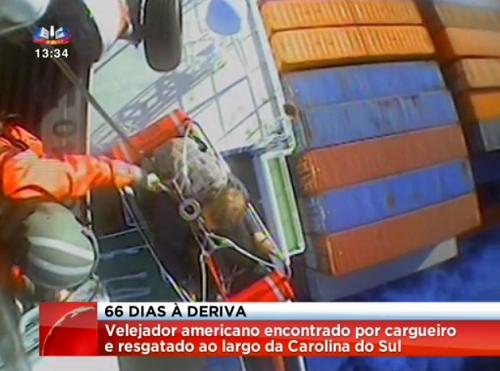 Velejador americano à deriva durante 66 dias (vídeo)