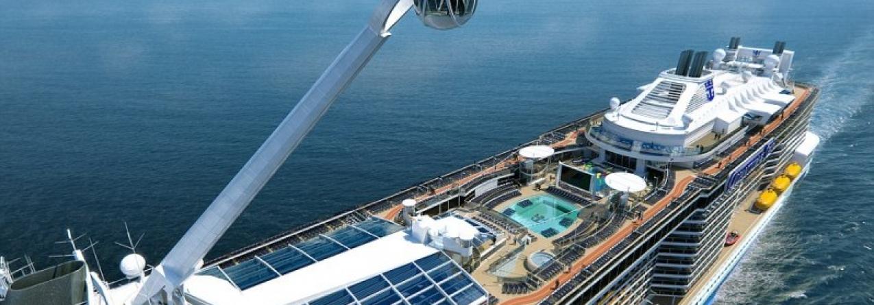 Terceiro maior navio de cruzeiros do mundo hoje em Ponta Delgada