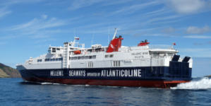 Embate e avaria param navios da Atlânticoline