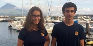 """Entrevista da RTPA a Júlia Vieira Branco e Bartolomeu Ribeiro, os dois primeiros alunos portugueses a bordo do Regina Maris no projecto """"School At Sea"""" (vídeo)"""