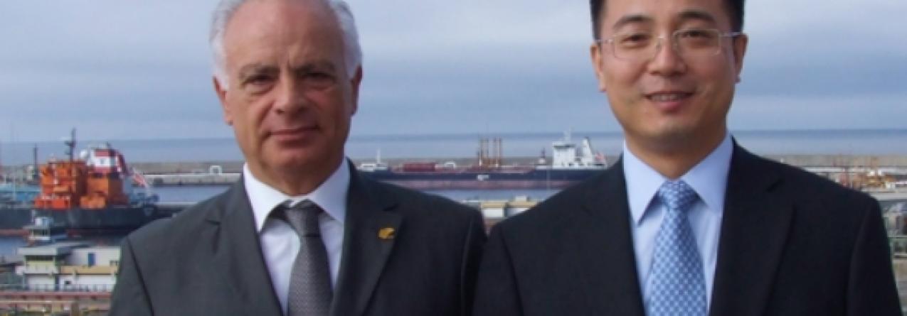 Porto de Sines recebe embaixador da China em Portugal