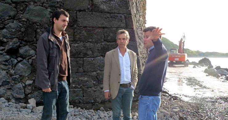 Obras de proteção costeira do Forte de São Sebastião, na ilha do Faial, decorrem a bom ritmo