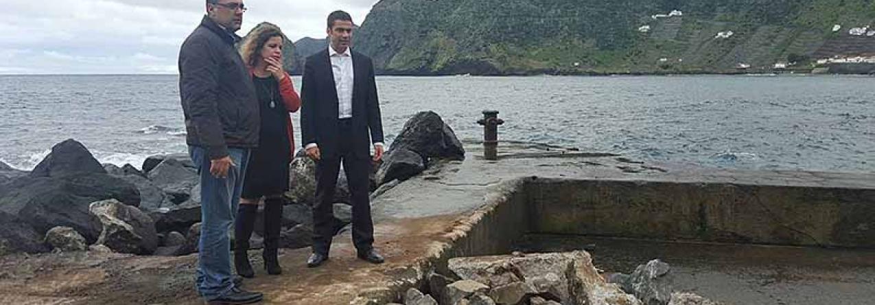 Governo dos Açores reforça proteção costeira no porto de São Lourenço, em Santa Maria