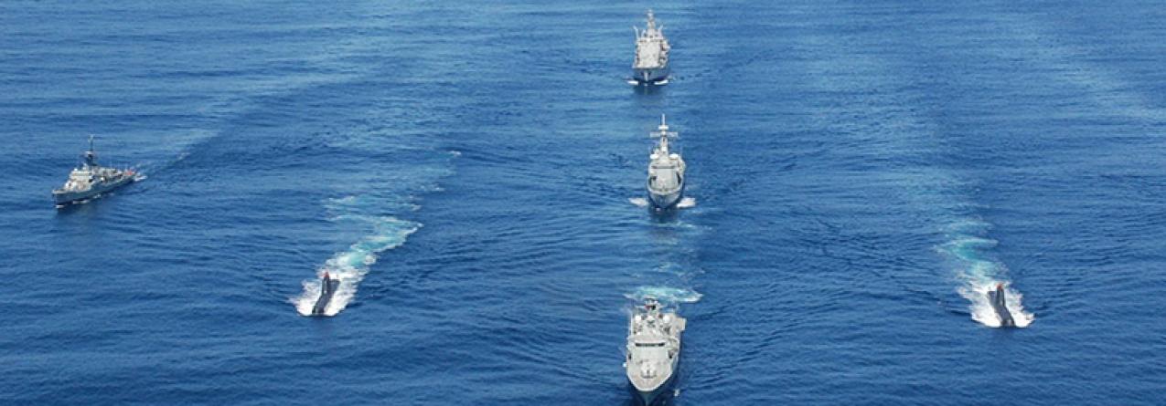 Marinha treina força naval para cenários de crise