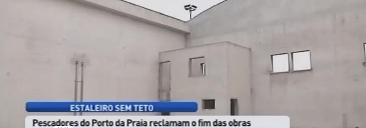 Estaleiro naval da Praia da Vitória continua sem teto (vídeo)