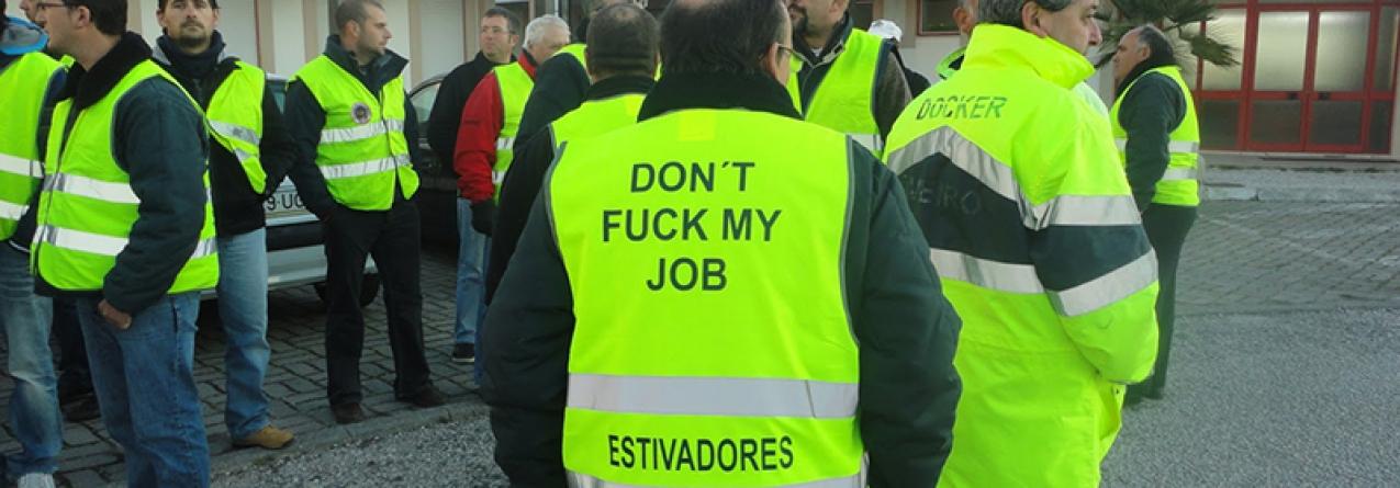 Estivadores prolongam greve no Porto de Lisboa até 27 de maio