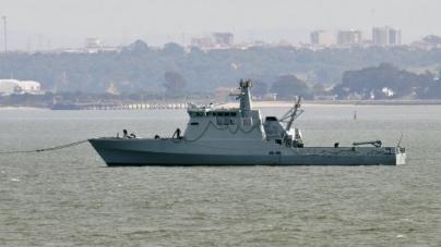 NRP Tejo apresentado hoje na Base naval de Lisboa