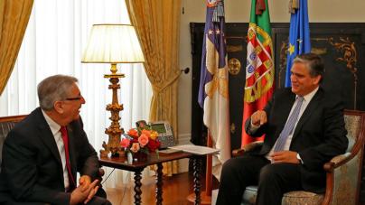 Vasco Cordeiro recebe Comissário Europeu para o Ambiente, Assuntos Marítimos e Pescas