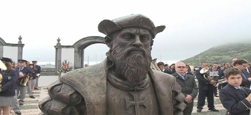 Estátua de Vasco da Gama inaugurada em Angra do Heroísmo (vídeo)