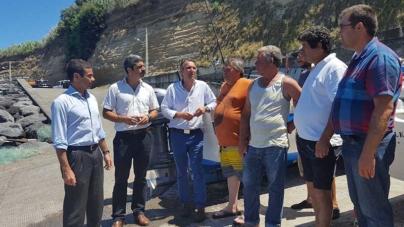 Porto dos Mosteiros, em S. Miguel, poderá ter posto de recolha para venda direta de pescado, afirma Brito e Abreu