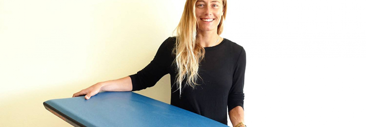 A atleta de Vila do Bispo Joana Schenker tricampeã da Europa em Bodyboard