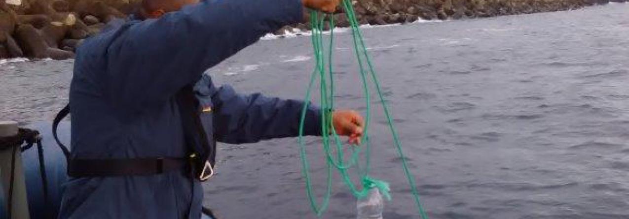 Polícia Marítima apreende rede de pesca com 100 metros na área Portuária de Vila do Porto