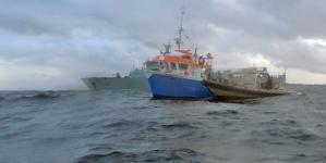 Embarcação autuada quando se encontrava a pescar ilegalmente na Reserva Natural dos Ilhéus das Formigas