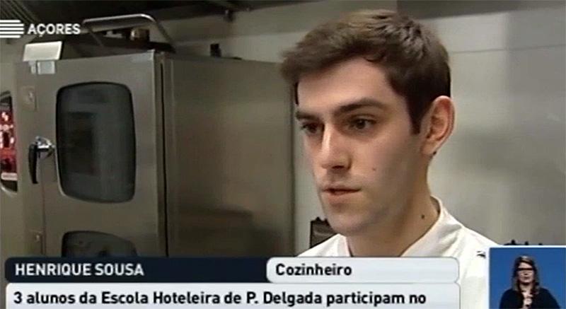 """Três alunos da Escola Hoteleira de Ponta Delgada vão participar no concurso """"Olivier Reollinger, para a preservação dos recursos do mar"""" (vídeo)"""