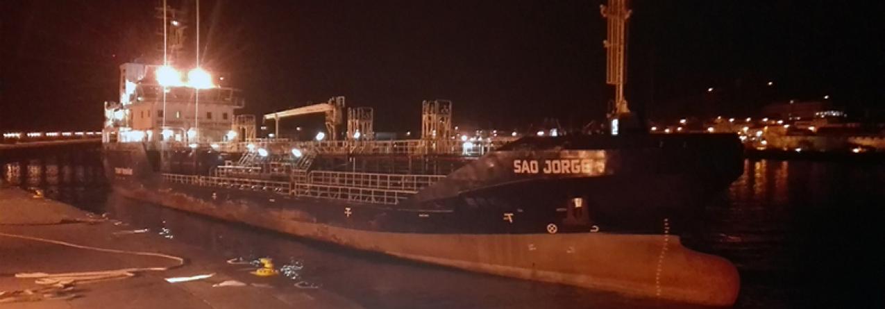 Autoridade Marítima resolve com sucesso situação do Chem Daisy no Porto da Horta