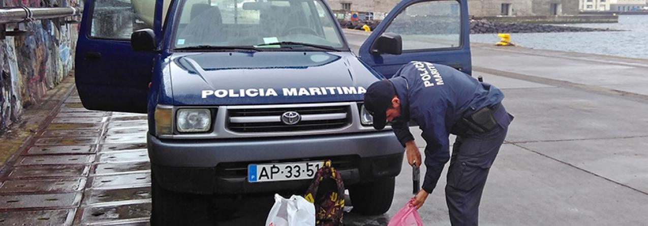 Ilha do Faial // Polícia Maritima interceta apanhador de lapas em período de defeso