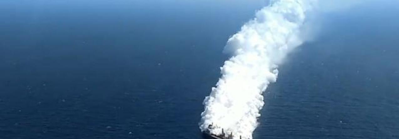 Navio com fertilizantes a arder e à deriva a sul de Canárias