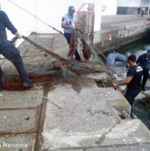 Polícia Maritima de Ponta Delgada apreende arte de pesca com 300 metros