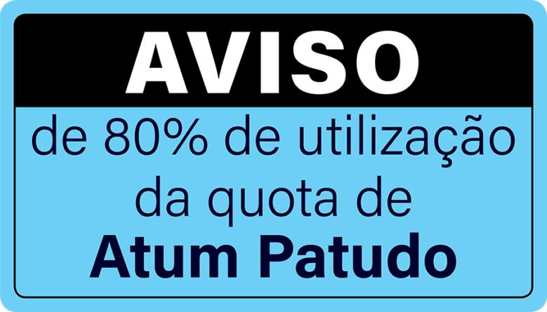 Aviso de utilização da quota de Atum patudo – BET/ATLANT