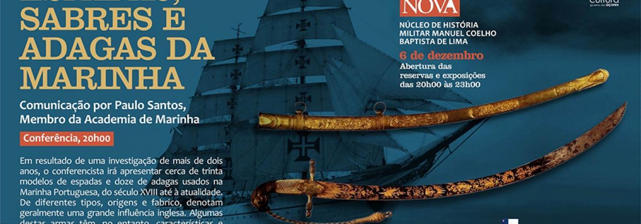 """Espadas, Sabres e Adagas da Marinha nas """"Conferências na Boa Nova"""""""