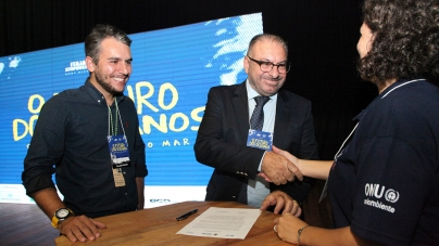 Legado da Volvo Ocean Race: Itajaí é a primeira cidade da América do Sul a assinar ocompromisso da ONUque visa a limpeza dos mares