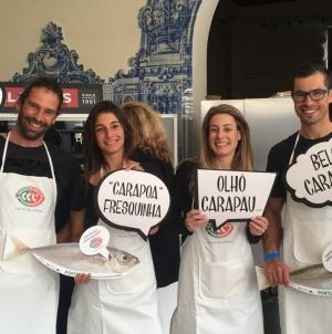 """Peixe em Lisboa: Atletas náuticos """"puxam a brasa ao carapau"""""""