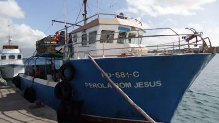 """Acidente com o barco de pesca """"Pérola Bom Jesus"""" de Ponta Delgada"""