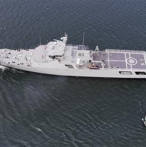 Novo navio patrulha oceânico faz provas de mar com sucesso