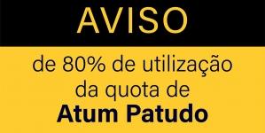 Aviso de 80% utilização da quota de Atum patudo – BET/ATLANT