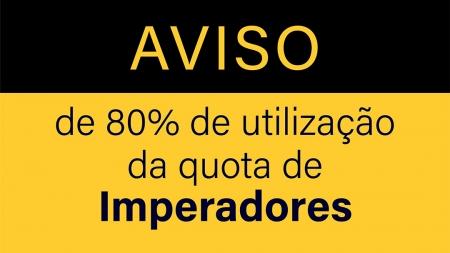 Aviso de 80% de utilização de quota e interdição da pesca dirigida aos imperadores