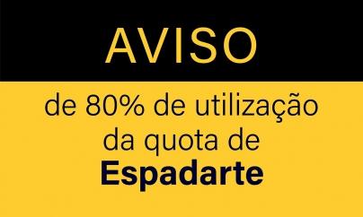 Aviso de 80% de utilização da quota da espécie: Espadarte – (SWO/AS05N)