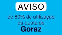 Aviso de 80% de utilização da quota de Goraz