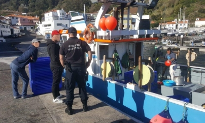 Polícia Marítima efetua apreensão de pescado ao largo de São Jorge