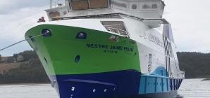 """Já foi lançado à água o navio """"Mestre Jaime Feijó"""" da Atlânticoline"""