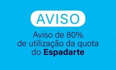 Aviso de 80% de utilização da quota do Espadarte