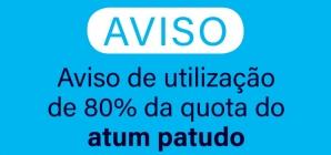 Aviso de utilização de 80% da quota do atum patudo