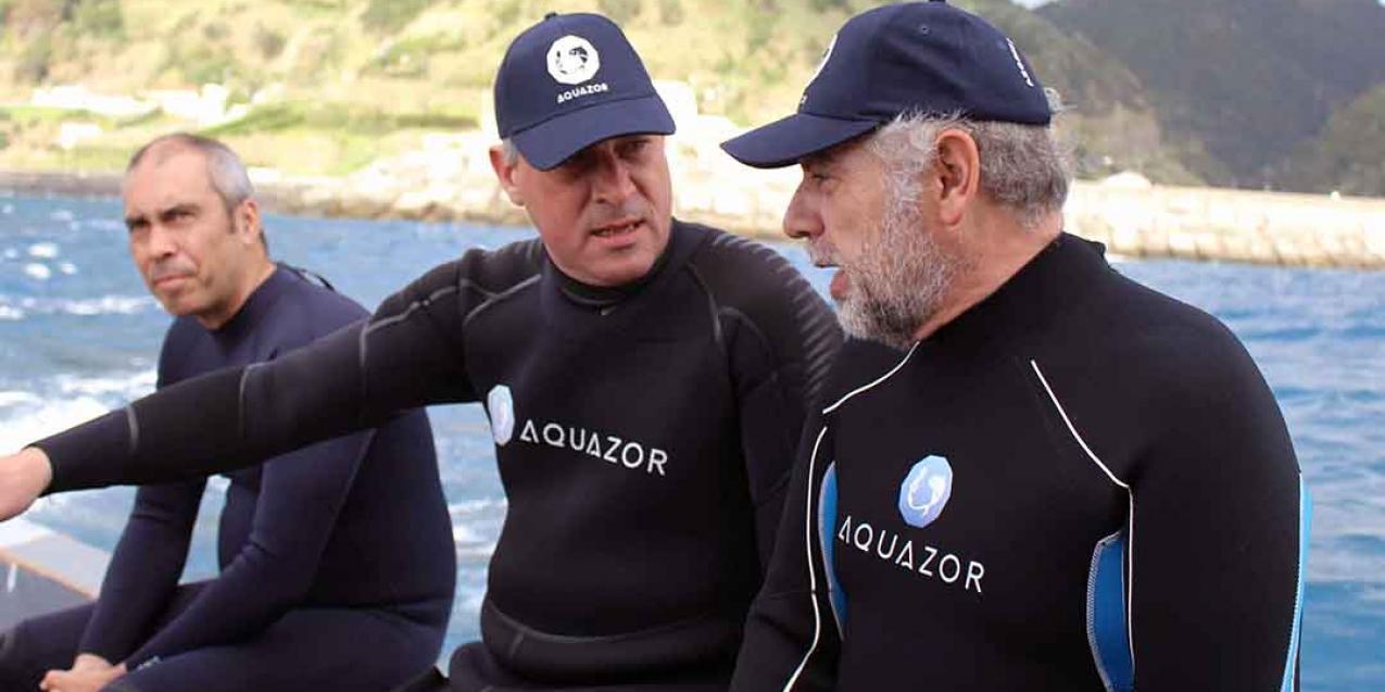 Gui Menezes visita primeiro projeto de criação de peixes em aquacultura dos Açores