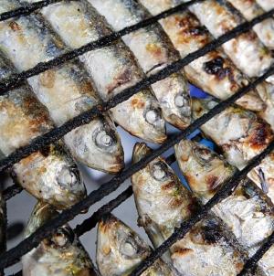 Assem sardinhas na varanda de casa. O apelo dos pescadores