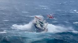 Navio holandês em perigo de se virar, parte da tripulação já evacuada